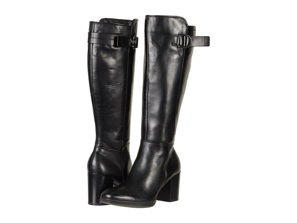 ECCO Shape 55 Chalet Tall Boot (Black Calf Leather) Women