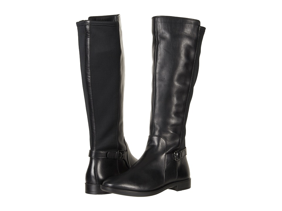 ECCO Shape M 15 Tall Boot (Black/Black Cow Leather/Textile) Women