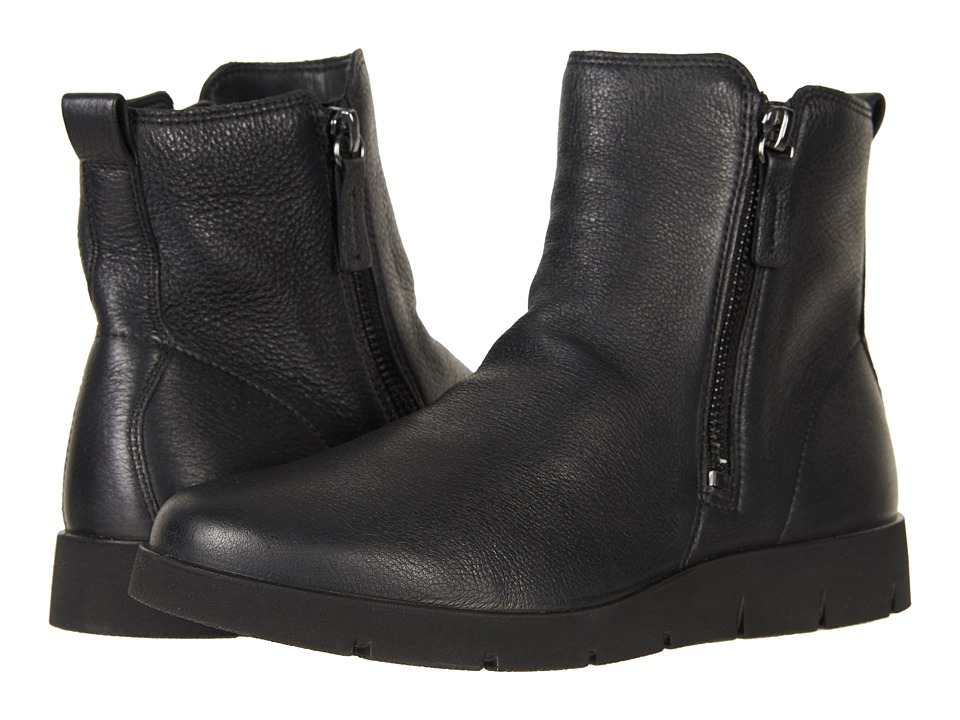 ECCO Bella Zip Boot (Black Cow Leather) Women