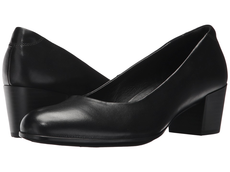 ECCO - Shape M 35 Pump (Black Calf Leather) Womens 1-2 inch heel Shoes