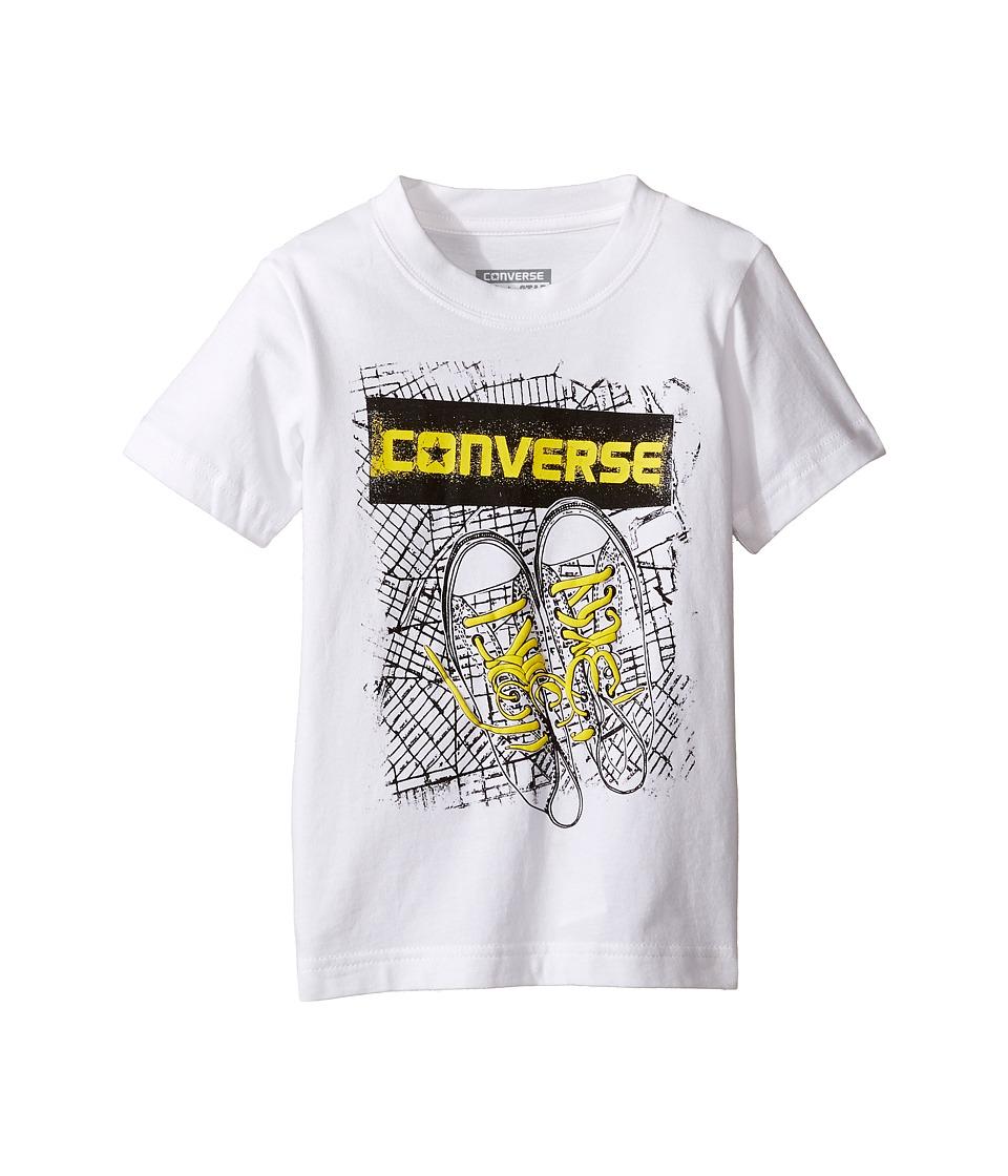 Converse Kids BK Map Tee (Toddler/Little Kids) (White) Boy