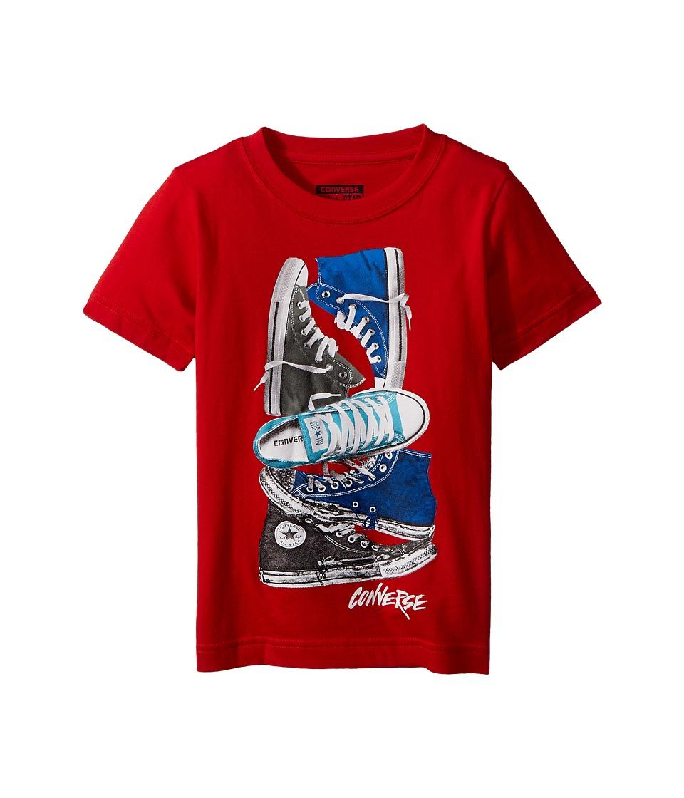 Converse Kids Stacked Remix Tee (Toddler/Little Kids) (Red) Boy
