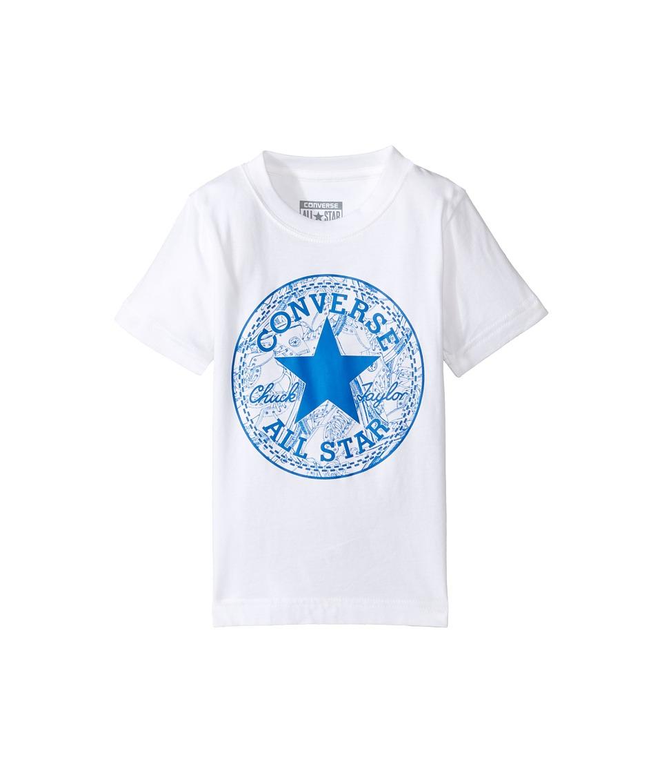 Converse Kids Seasonal Chuck Fill Tee (Toddler/Little Kids) (White) Boy