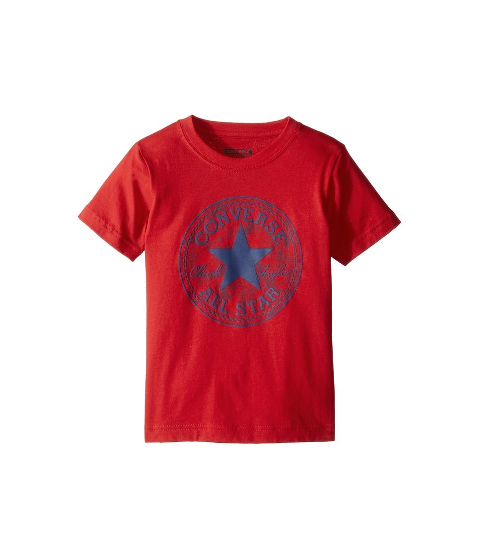Converse Kids Seasonal Chuck Fill Tee (Toddler/Little Kids) (Red) Boy