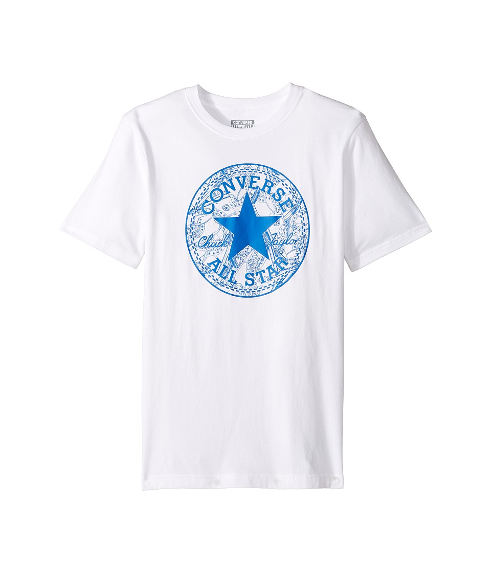 Converse Kids Seasonal Chuck Fill Tee (Big Kids) (White) Boy