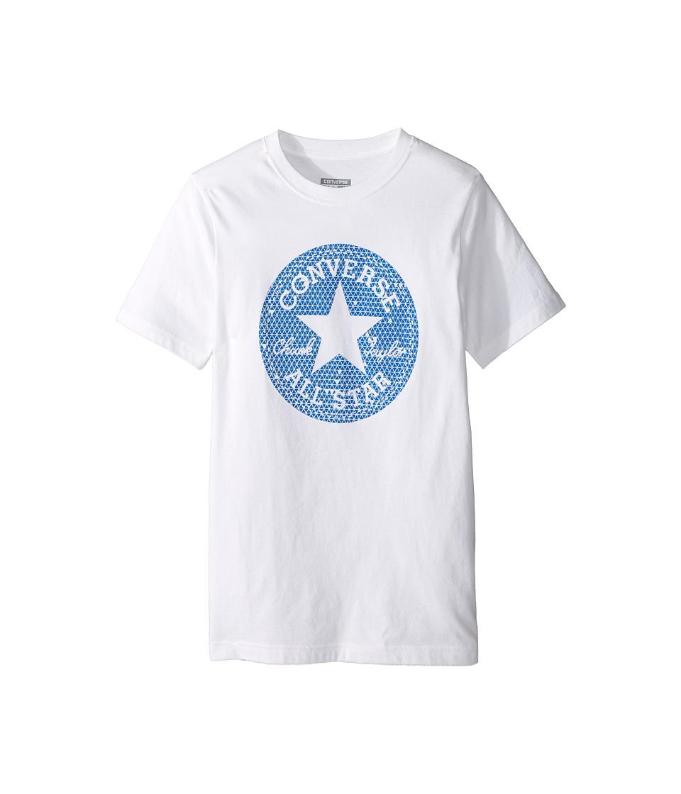 Converse Kids Reflective Chuck Patch Tee (Big Kids) (White) Boy