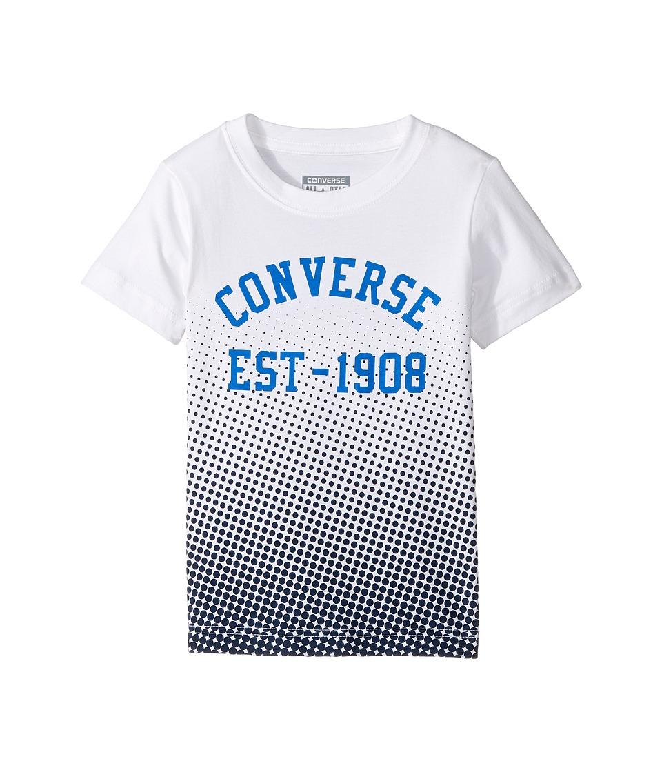 Converse Kids Vintage Fade Tee (Toddler/Little Kids) (White) Boy