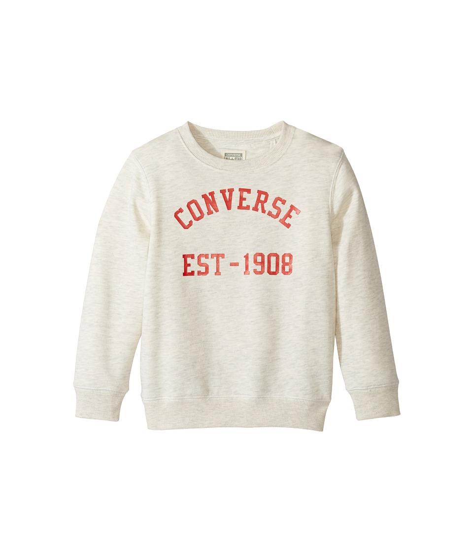 Converse Kids Vintage Type Crew (Toddler/Little Kids) (Oatmeal Heather) Boy