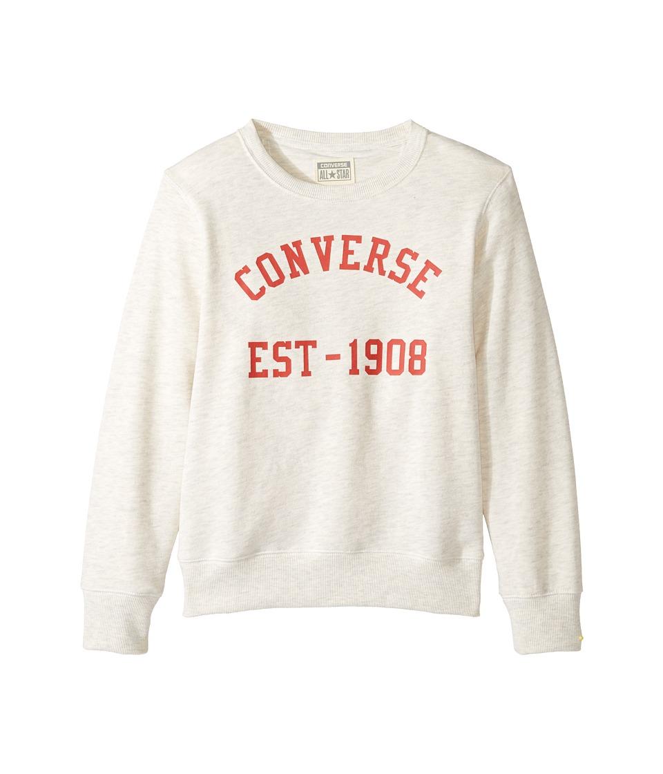Converse Kids Vintage Type Crew (Big Kids) (Oatmeal Heather) Boy