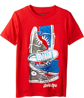 Converse Kids - Stacked Remix Tee (Big Kids)