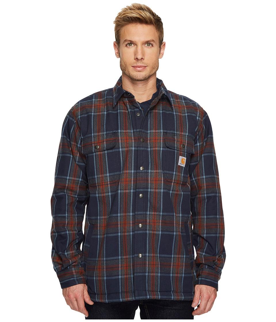 Carhartt Hubbard Sherpa Lined Shirt Jacket (Navy) Men's Coat