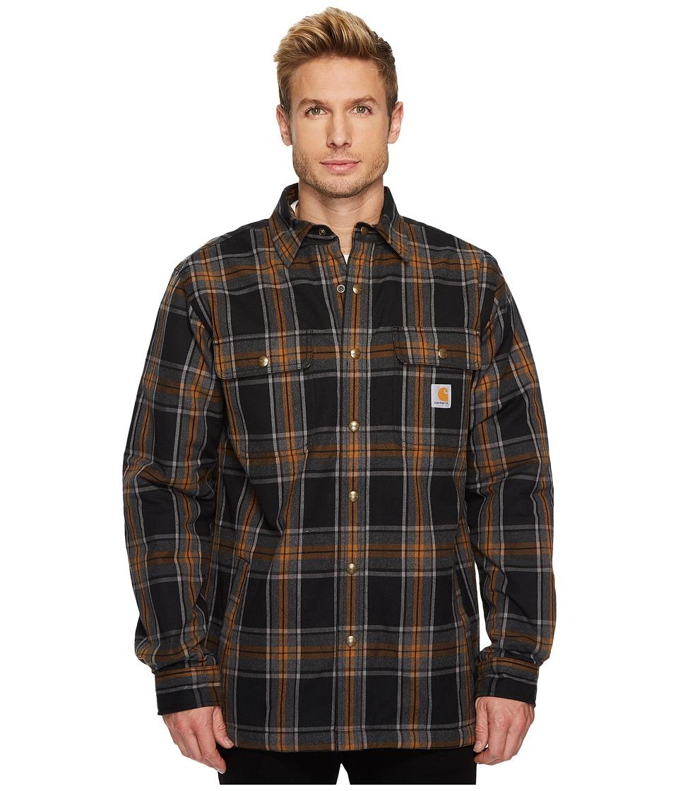 Carhartt Hubbard Sherpa Lined Shirt Jacket (Black) Men's ...