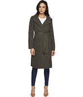 Ellen Tracy - Microfiber Hooded Wrap Trench