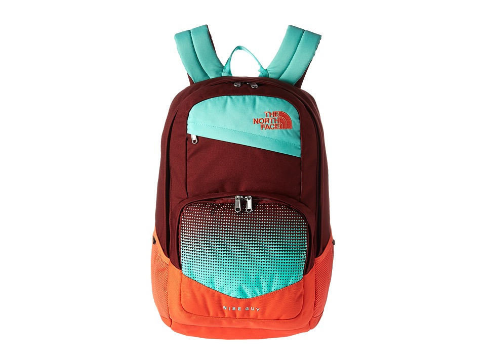 The North Face Wise Guy Backpack (Barolo Red/Bermuda Green) Backpack Bags