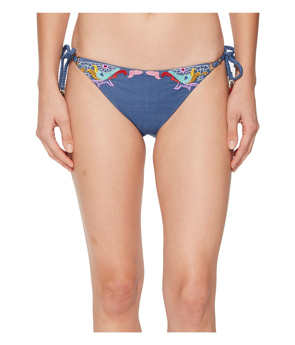 Nanette Lepore Dazed Denim Vamp Bikini Bottom (Multi) Women