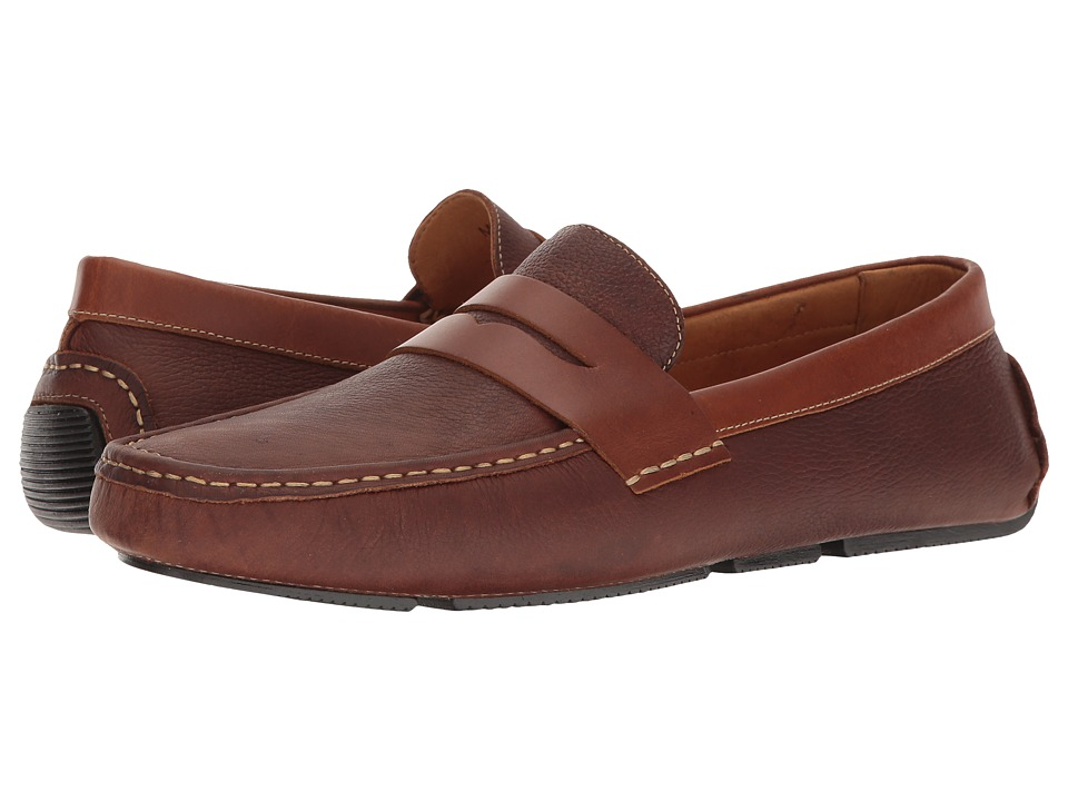 Massimo Matteo - Pitstop Penny Driver (Cognac) Mens Slip on  Shoes