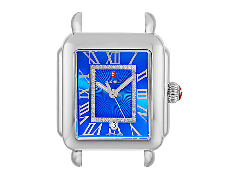 Michele Deco Madison Cobalt Diamond Dial Stainless Steel - Stainless Steel