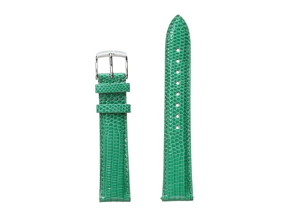 Michele Watches 18mm Garden Lizard Strap Green (Green) Wa...