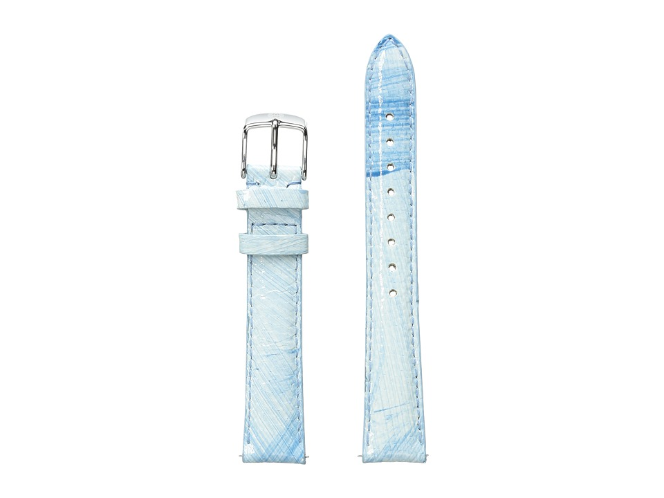 Michele - 16mm Painted Snakeskin Strap Blue/White