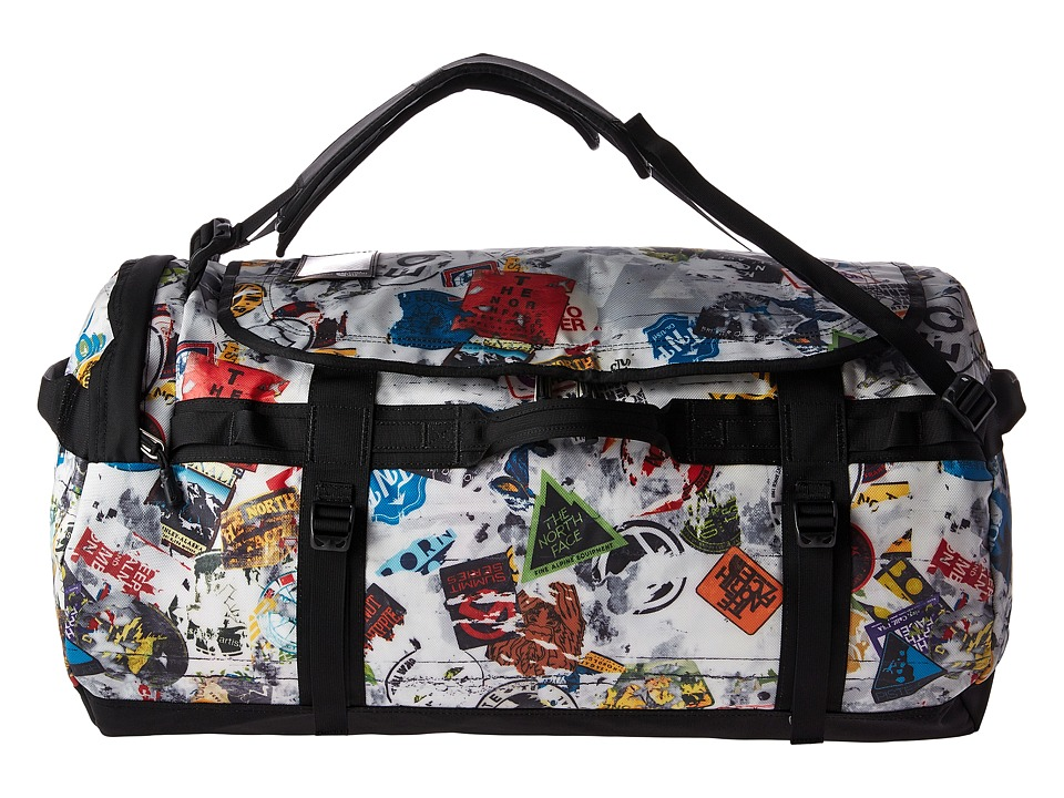 The North Face Base Camp Duffel Large (TNF Red Sticker Bomb Decay Print/TNF Black) Duffel Bags
