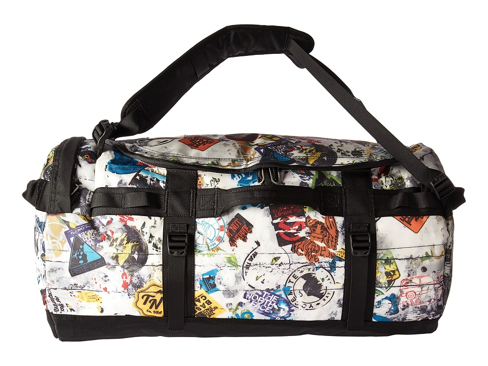 The North Face Base Camp Duffel Medium (TNF Red Sticker Bomb Decay Print/TNF Black) Duffel Bags