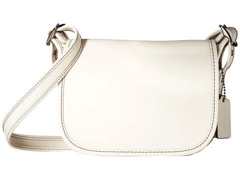 COACH Glovetanned Leather Saddle Bag 18 - DK/Chalk