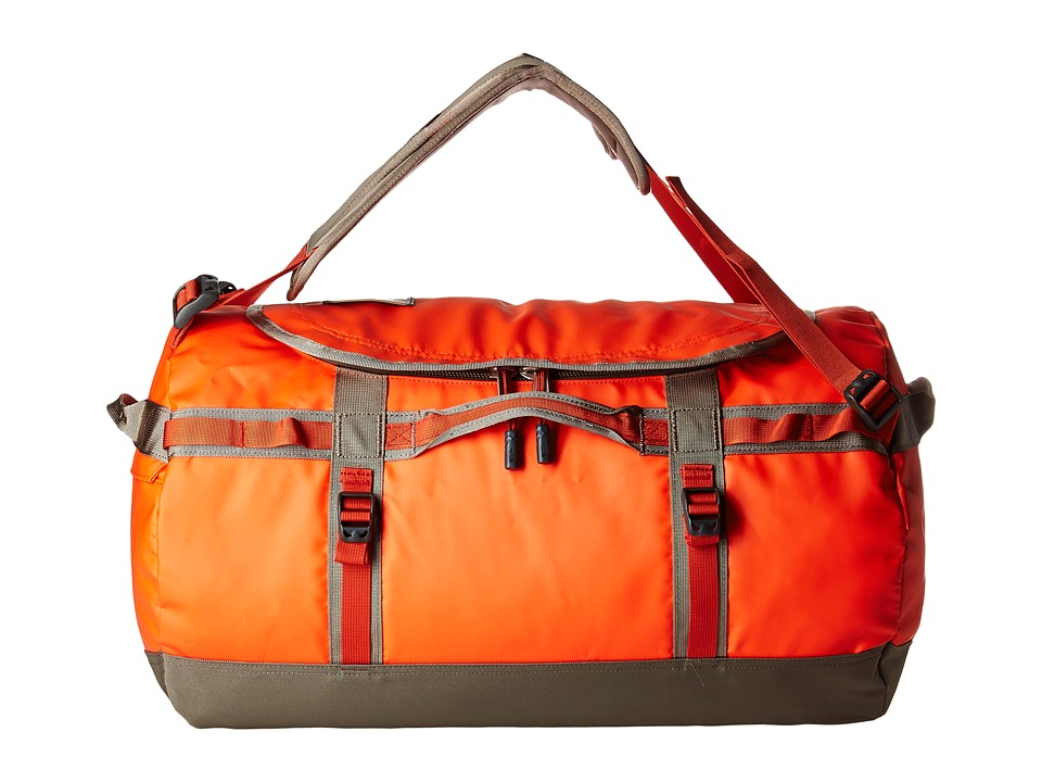 The North Face Base Camp Duffel Small (Acrylic Orange/Falcon Brown) Duffel Bags