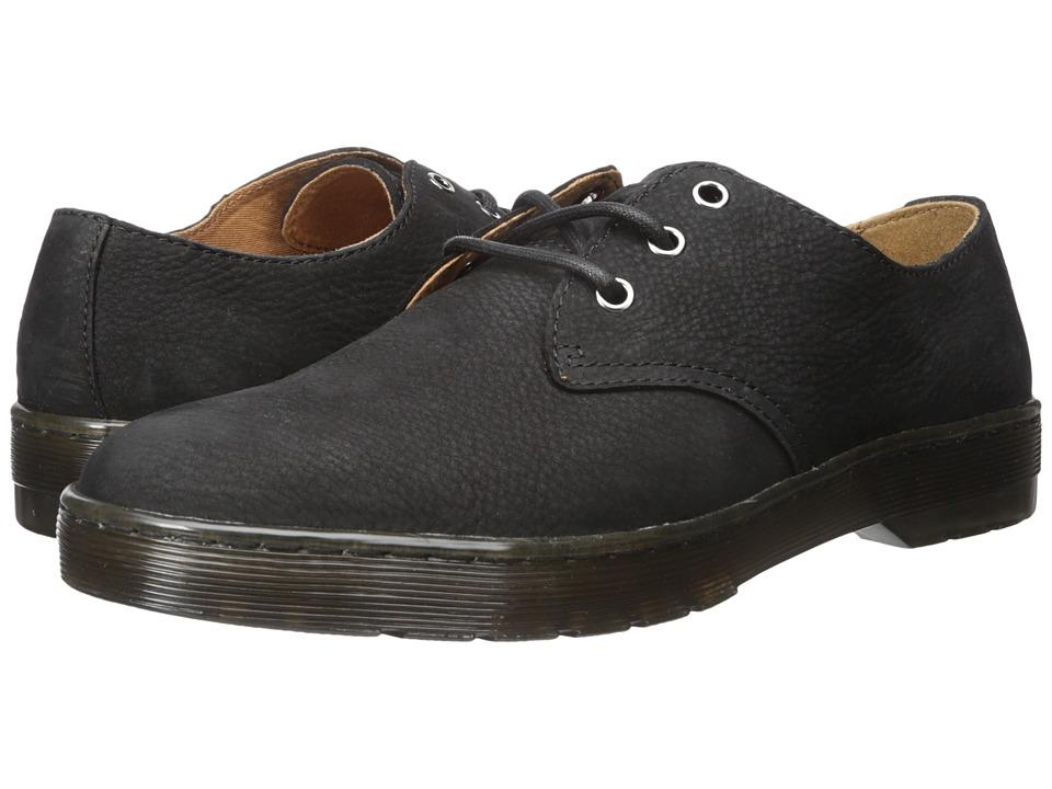 Dr. Martens Coronado 3-Eye Shoe (Black Slippery Wp/Black Co Cotton Drill) Men