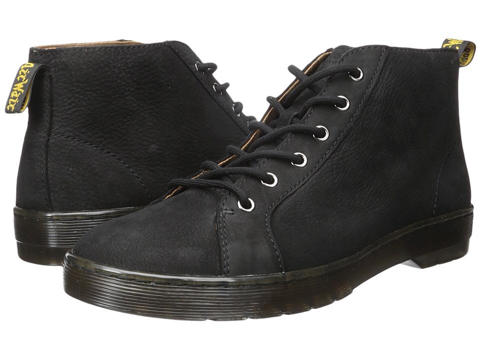 Dr. Martens Coburg 6-Eye Suede LTT Boot (Black Slippery Wp/Black Co Cotton Drill) Men