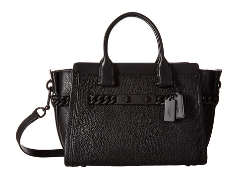COACH Id Pebbled Leather Swagger 27 - MW/Black