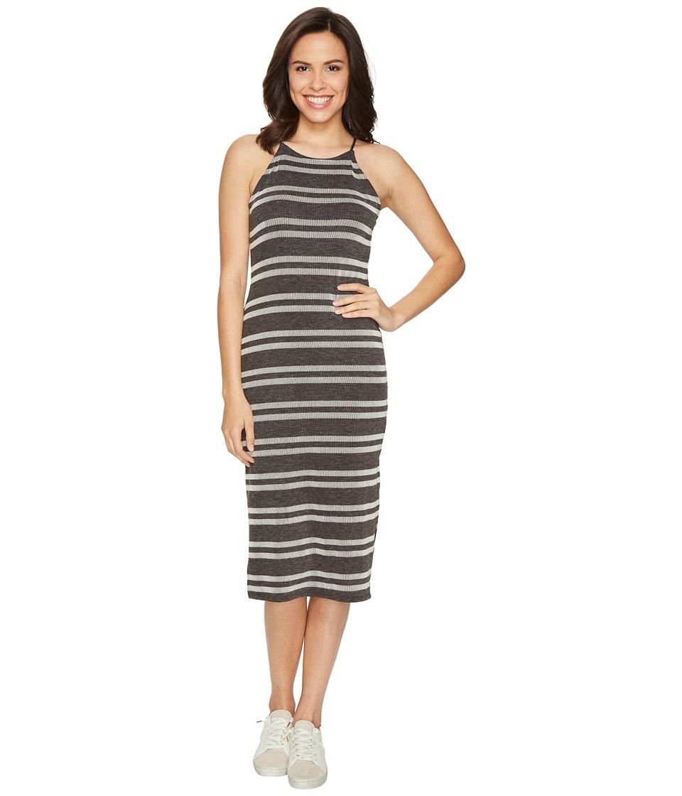 Culture Phit Indra Spaghetti Strap Striped Dress (Charcoal) Women