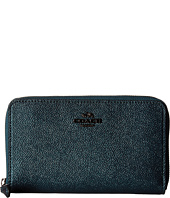 COACH - Metallic Leather Medium Zip Around Wallet