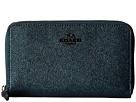 COACH - Metallic Leather Medium Zip Around Wallet