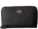 COACH Crossgrain Leather Medium Zip Around Wallet