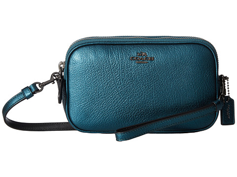 COACH Metallic Crossbody Clutch - Dk/Metallic Mineral