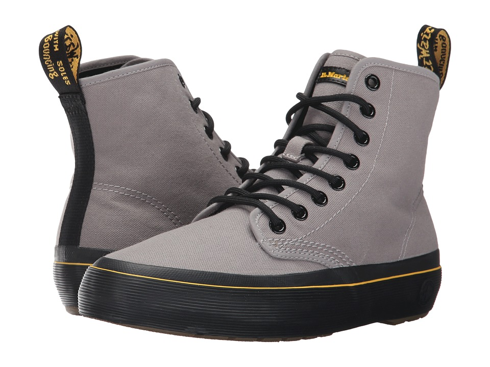 Dr. Martens Monet 8-Eye Boot (Mid Grey 10 Oz Canvas/Black T Lamper) Women