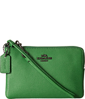 COACH - Crossgrain Leather Small Wristlet