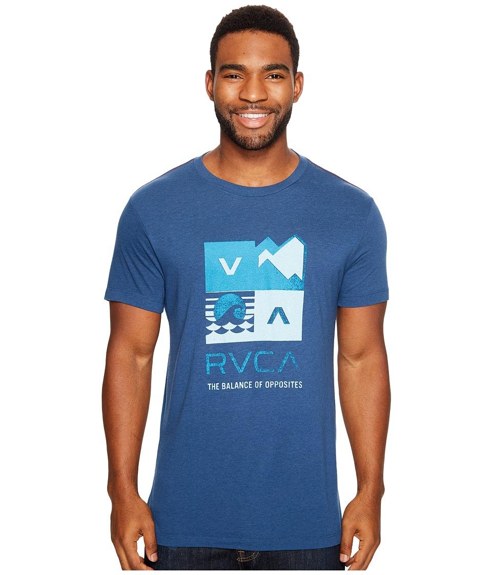 RVCA Surf Check Tee (Dark Denim) Men
