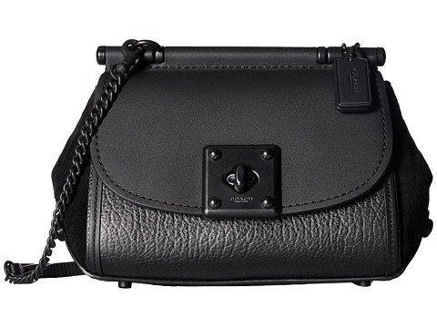 COACH Mixed Leather Drifter Crossbody - MW/Black