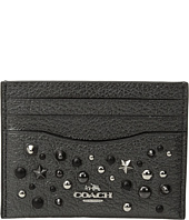 COACH - Metallic Star Rivets Flat Card Case