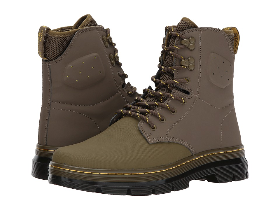 Dr. Martens Quinton Tall Boot (Mid Olive Ajax/Mid Olive 19-0622 Tpx Synthetic Nubuck) Boots