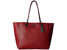 COACH - Pebbled Turnlock Chain Tote