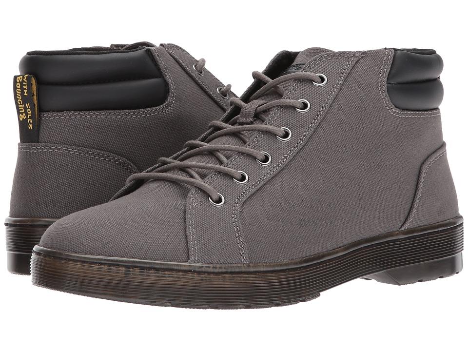 Dr. Martens Plaza 6-Eye LTT Boot (Gunmetal 14 Oz Canvas/Black PU Polyurethane) Men