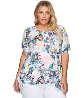 Nally & Millie - Plus Size Tropical Print Tunic