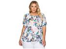 Nally & Millie - Plus Size Tropical Print Tunic
