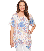 Nally & Millie - Plus Size Floral Print Tunic