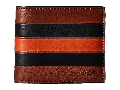 COACH Modern Varsity Stripe 3-in-1 Wallet - Dark Saddle/Black