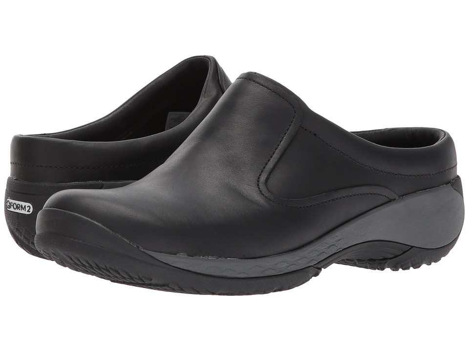 Merrell Encore Q2 Slide Leather (Black) Clogs