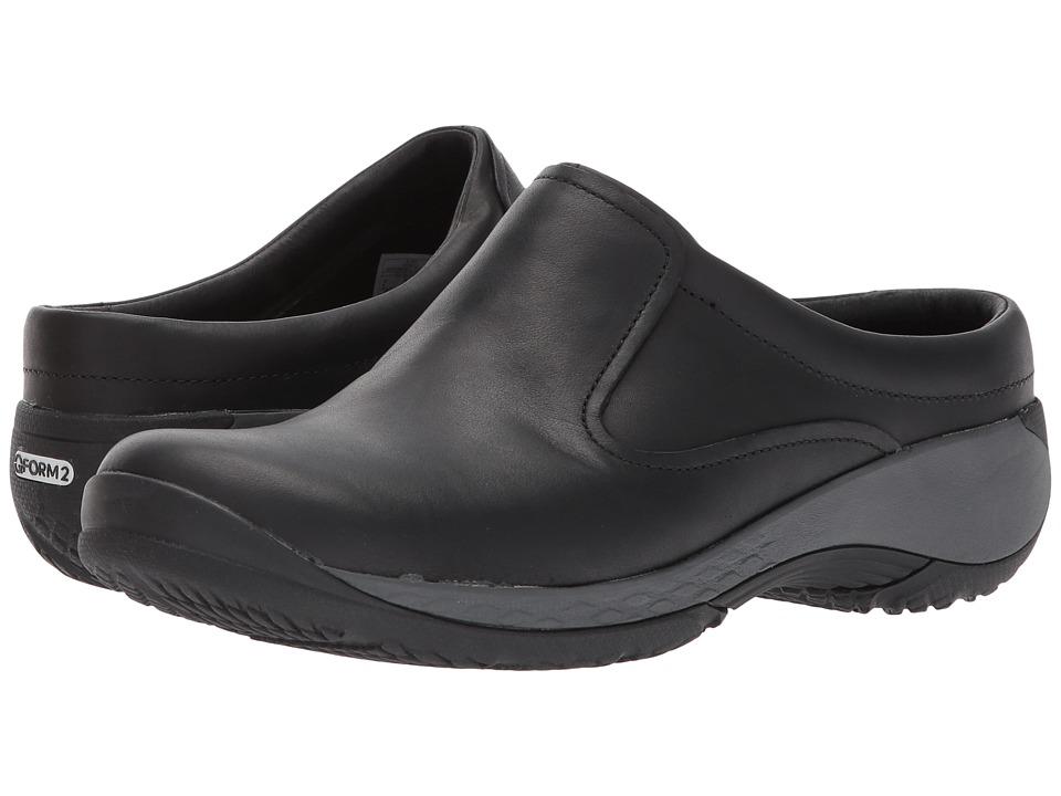 Merrell - Encore Q2 Slide Leather (Black) Womens Clog Shoes
