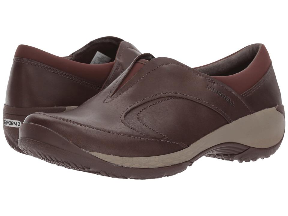 Merrell - Encore Q2 Moc Leather (Espresso) Womens Clog Shoes